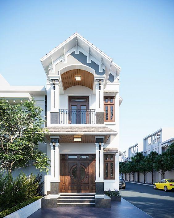 mau nha pho mai ngoi 2 tang dep 6 - Nhà phố mái ngói đẹp thịnh hành đẹp [NHẤT] năm 2020