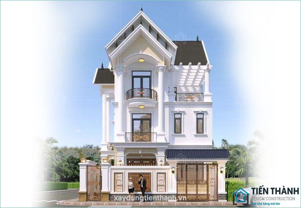 mau nha pho mai ngoi 3 tang dep 3 - Nhà phố mái ngói đẹp thịnh hành đẹp [NHẤT] năm 2020