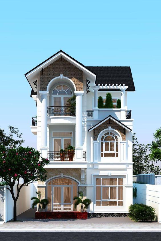 mau nha pho mai ngoi 3 tang dep 4 - Nhà phố mái ngói đẹp thịnh hành đẹp [NHẤT] năm 2020