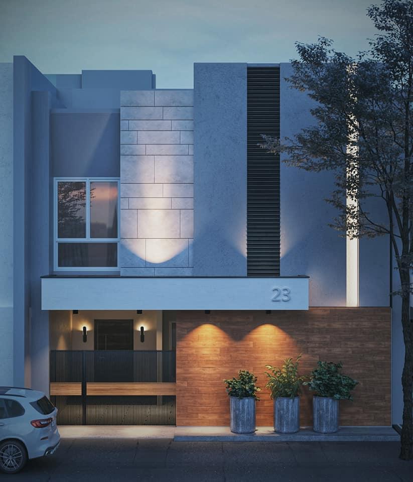 mau nha vuong 2 tang mai bang 4 - #25 Mẫu nhà 2 tầng mái bằng hiện đại [đẹp] năm 2020