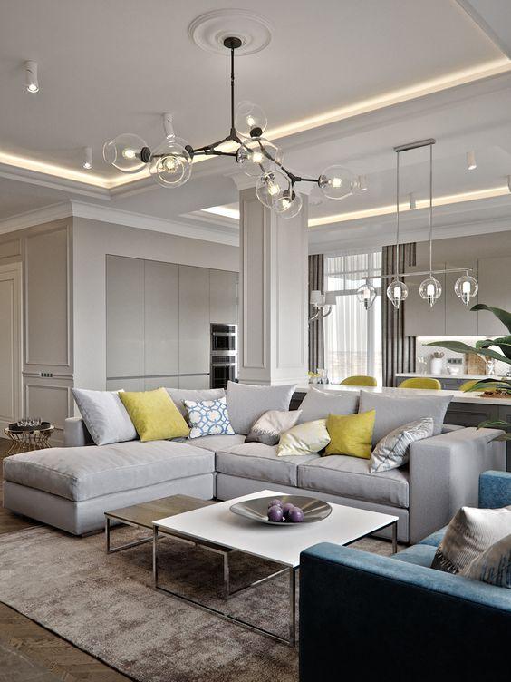 phong khach chung cu dep tan co dien 10 - #39 Mẫu phòng khách chung cư ĐẸP phù hợp với thực tế.