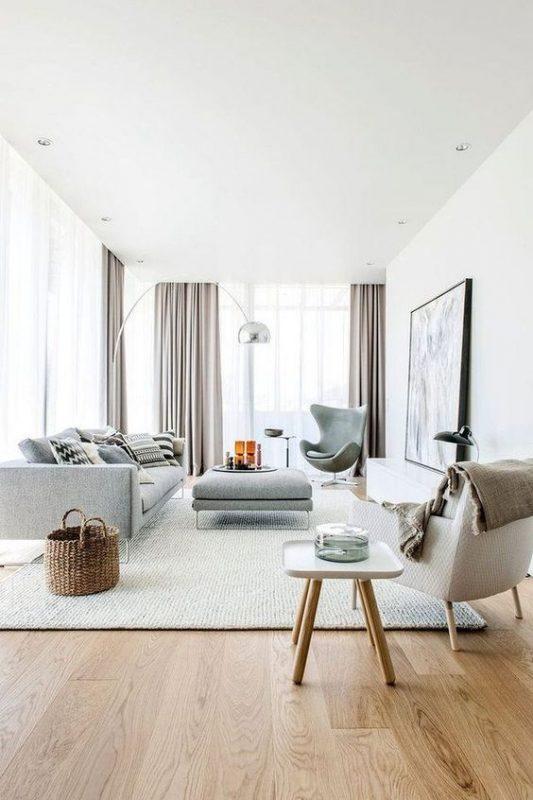 phong khach chung cu dep toi gian 1 533x800 - #39 Mẫu phòng khách chung cư ĐẸP phù hợp với thực tế.