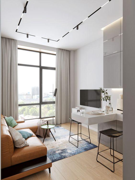 phong khach chung cu nho dep 3 - #39 Mẫu phòng khách chung cư ĐẸP phù hợp với thực tế.