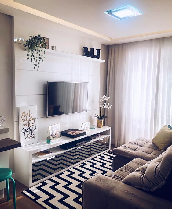 phong khach chung cu nho dep 6 - #39 Mẫu phòng khách chung cư ĐẸP phù hợp với thực tế.