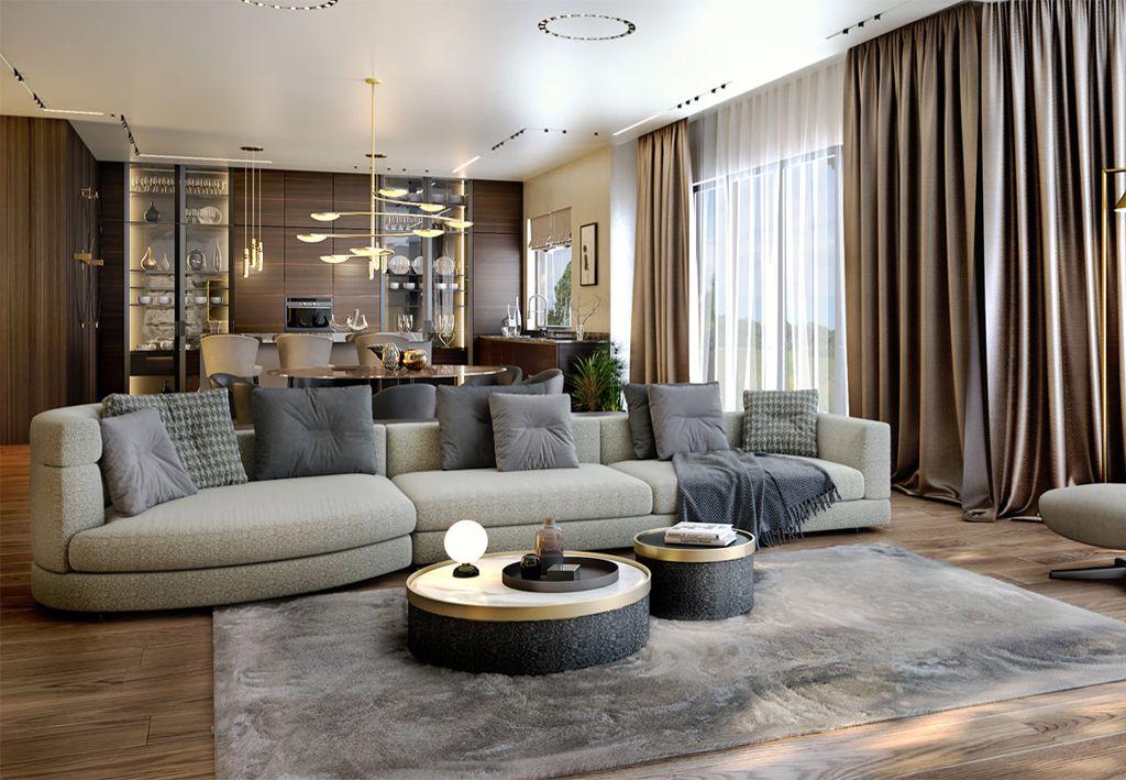 phong khach dep hien dai 1 - #33 Mẫu phòng khách đẹp [khao khát] nhất năm 2021 tại TPHCM