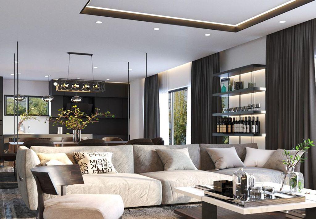 phong khach dep hien dai 2 - #33 Mẫu phòng khách đẹp [khao khát] nhất năm 2021 tại TPHCM