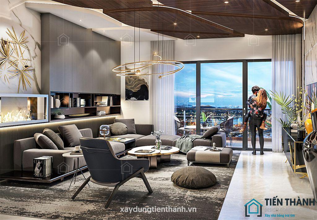 phong khach dep hien dai 5 - #33 Mẫu phòng khách đẹp [khao khát] nhất năm 2021 tại TPHCM