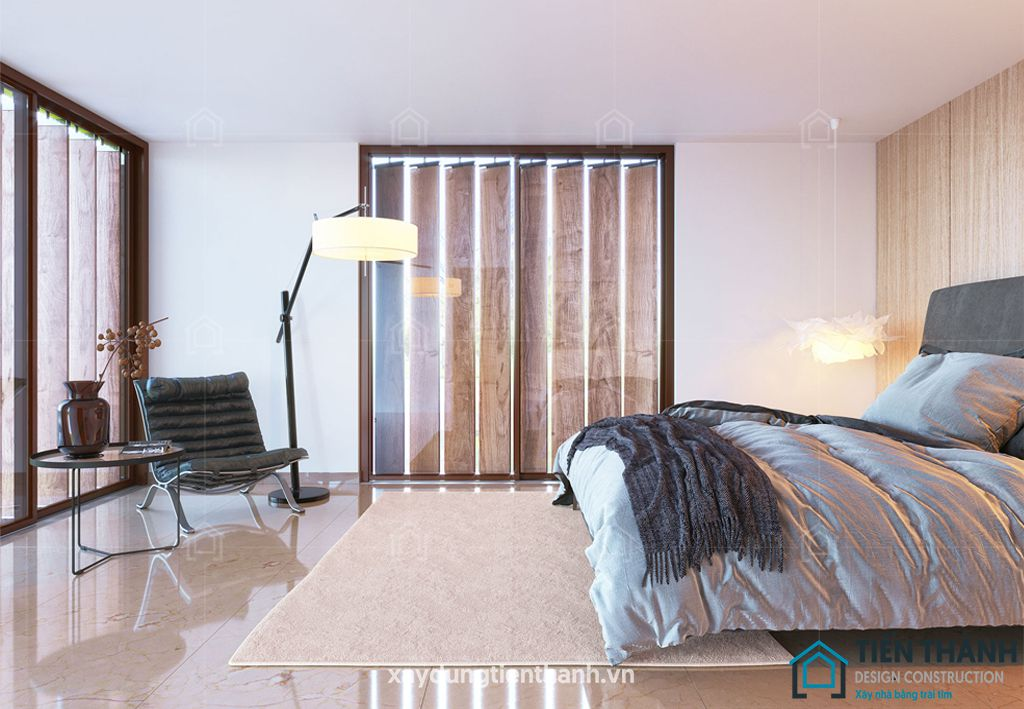 phong ngu nho dep 10m2 hien dai 1 - Top 25 mẫu thiết kế phòng ngủ nhỏ ĐẸP cho tất cả mọi người
