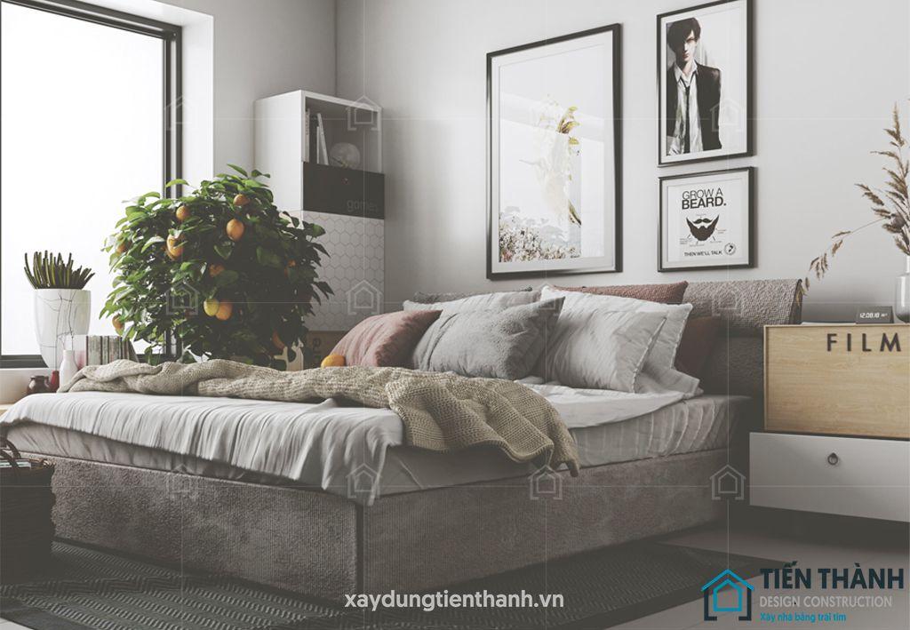 phong ngu nho dep 10m2 hien dai 3 - Top 25 mẫu thiết kế phòng ngủ nhỏ ĐẸP cho tất cả mọi người