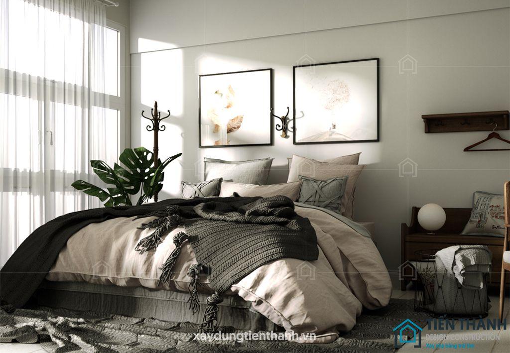 phong ngu nho dep 10m2 hien dai 4 - Top 25 mẫu thiết kế phòng ngủ nhỏ ĐẸP cho tất cả mọi người