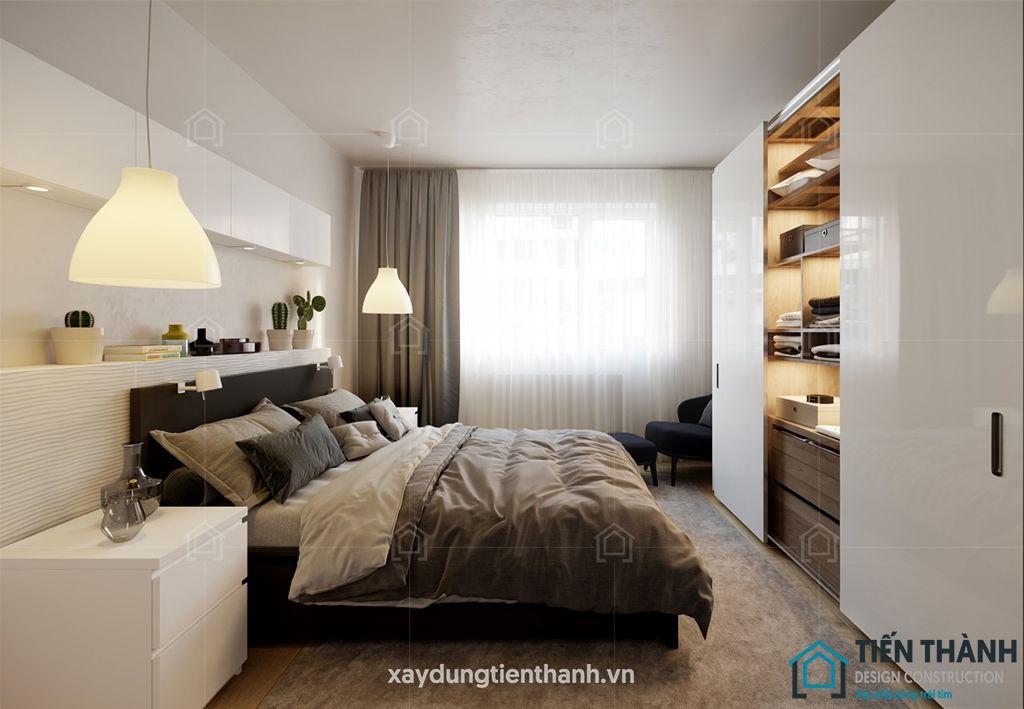 phong ngu nho dep 10m2 hien dai 5 - Top 25 mẫu thiết kế phòng ngủ nhỏ ĐẸP cho tất cả mọi người