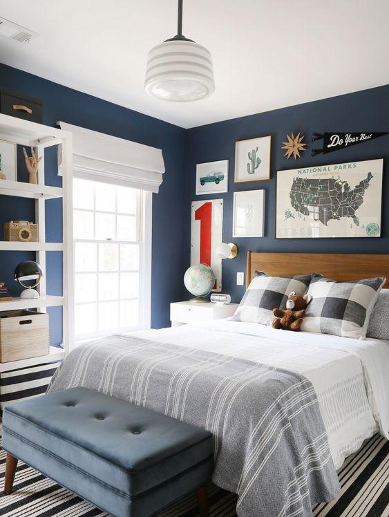 phong ngu tan co dien cho be trai 8 - #29 Mẫu phòng ngủ tân cổ điển đẹp HOT nhất thời điểm này