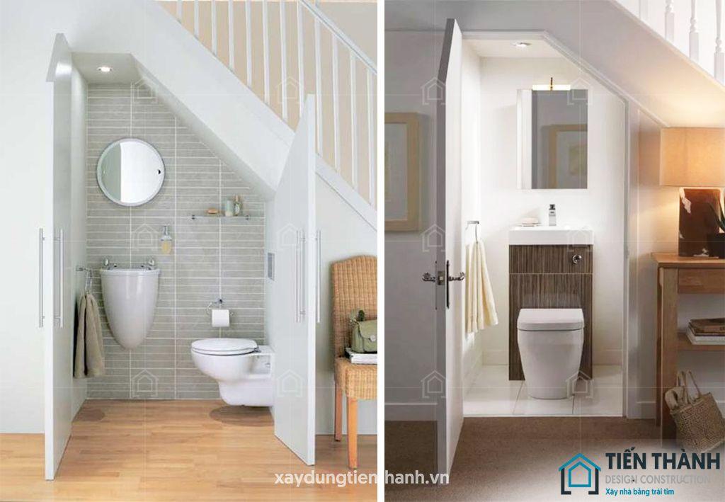 ban ve nha ve sinh duoi gam cau thang - Bản vẽ nhà vệ sinh dưới gầm cầu thang trong ngôi nhà đẹp.