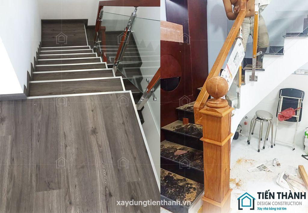 cau thang go kinh cuong luc 1 - #29 Mẫu cầu thang gỗđẹp 2020 ưa chuộng HOT nhất tại TPHCM