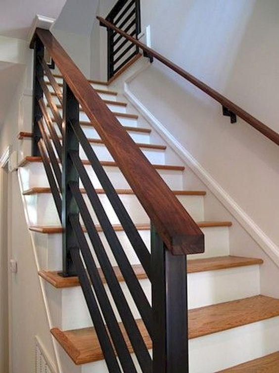 cau thang go sat dep 5 - #29 Mẫu cầu thang gỗđẹp 2020 ưa chuộng HOT nhất tại TPHCM