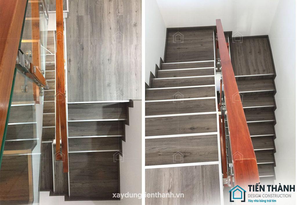 cau thang go vuong hien dai 3 - #29 Mẫu cầu thang gỗđẹp 2020 ưa chuộng HOT nhất tại TPHCM