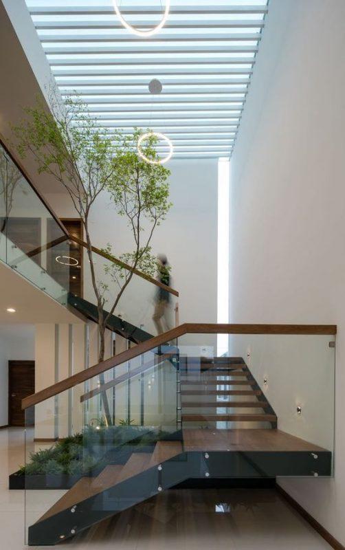 cau thang kinh dep - Mẫu nhà xây nhà 1 trệt 1 lầu giá rẻ HOT nhất hiện nay 2021