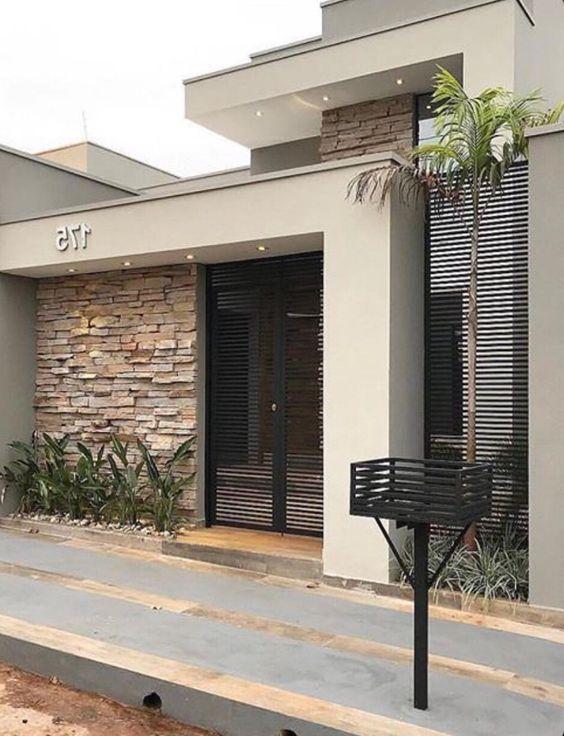 da che tu nhien op tuong mat tien 1 - Trang trí đá chẻ tự nhiên ốp tường đẹp cho không gian nhà ở