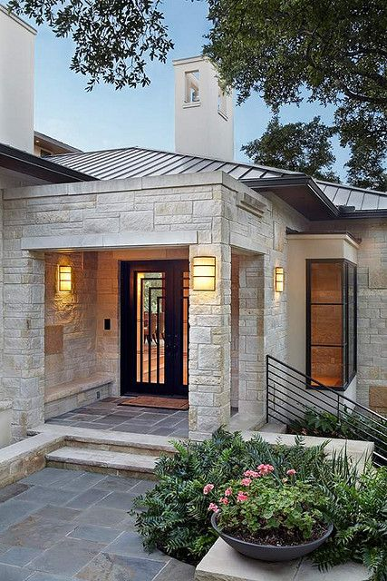 da che tu nhien op tuong mat tien 5 - Trang trí đá chẻ tự nhiên ốp tường đẹp cho không gian nhà ở