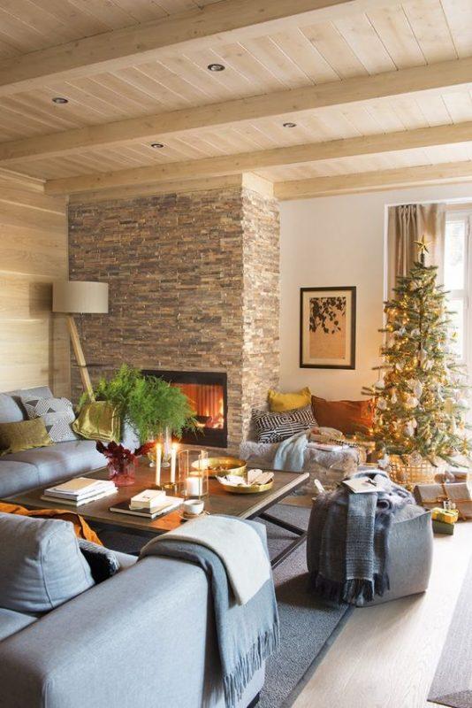 da che tu nhien op tuong phong khach 2 534x800 - Trang trí đá chẻ tự nhiên ốp tường đẹp cho không gian nhà ở