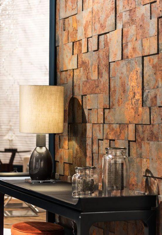 da che tu nhien op tuong phong khach 5 553x800 - Trang trí đá chẻ tự nhiên ốp tường đẹp cho không gian nhà ở