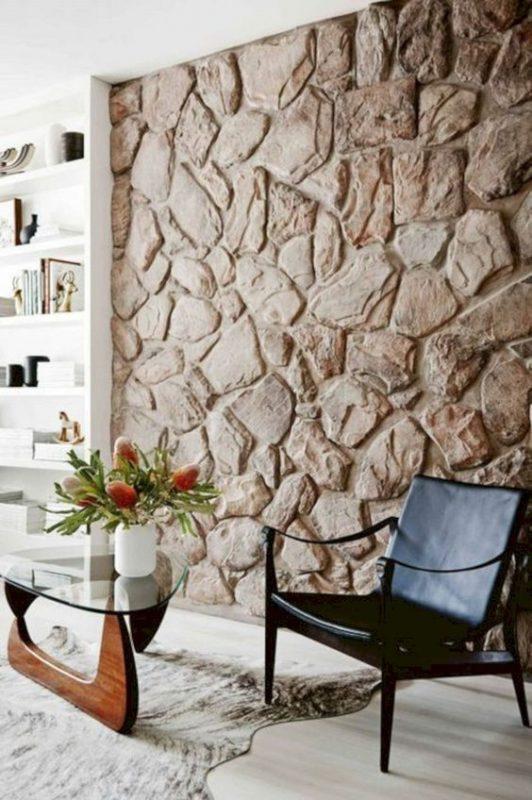 da che tu nhien op tuong phong khach 7 532x800 - Trang trí đá chẻ tự nhiên ốp tường đẹp cho không gian nhà ở