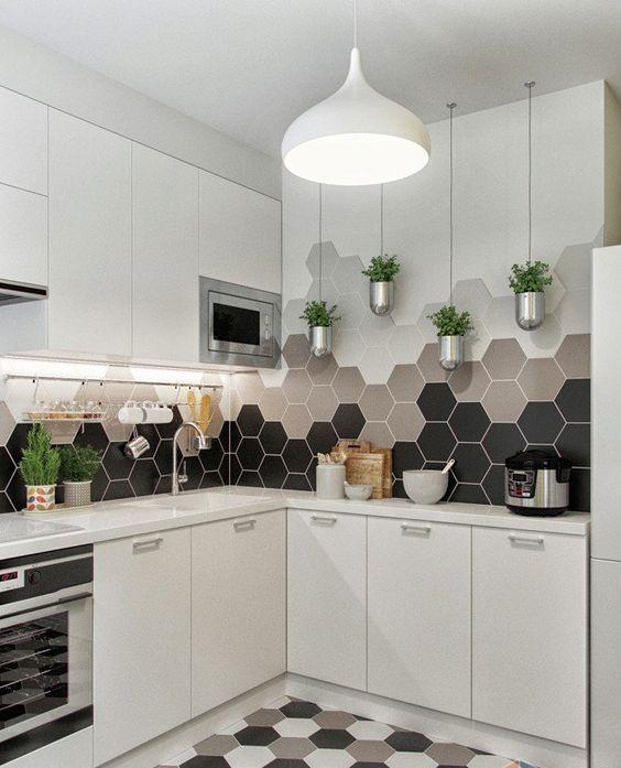 gach luc giac op tuong phong bep 4 - Gạch lục giác ốp tường ứng dụng vào không gian trong ngôi nhà đẹp