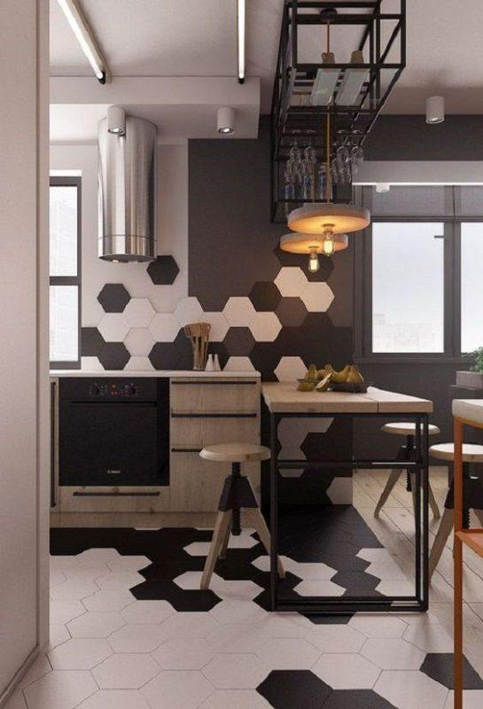 gach luc giac op tuong phong bep 5 545x800 - Gạch lục giác ốp tường ứng dụng vào không gian trong ngôi nhà đẹp