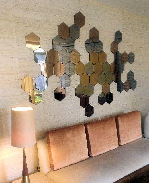 gach luc giac op tuong phong khach 5 - Gạch lục giác ốp tường ứng dụng vào không gian trong ngôi nhà đẹp