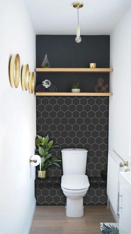 gach luc giac op tuong phong ve sinh toilet 2 450x800 - Gạch lục giác ốp tường ứng dụng vào không gian trong ngôi nhà đẹp