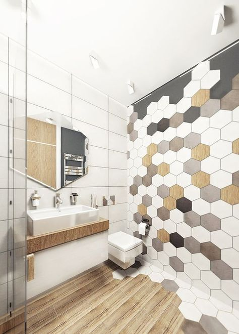 gach luc giac op tuong phong ve sinh toilet 4 - Gạch lục giác ốp tường ứng dụng vào không gian trong ngôi nhà đẹp
