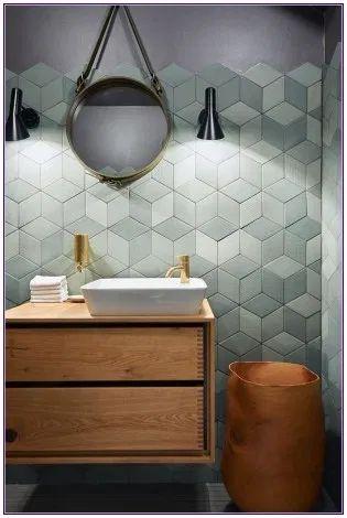 gach luc giac op tuong phong ve sinh toilet 7 - Gạch lục giác ốp tường ứng dụng vào không gian trong ngôi nhà đẹp