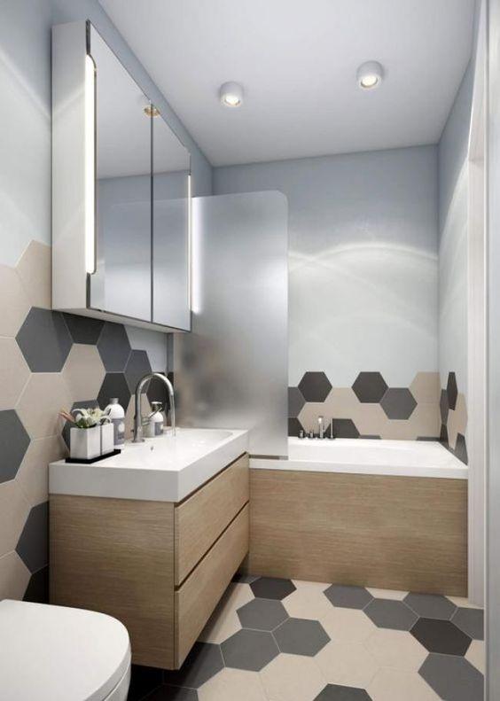 gach luc giac op tuong phong ve sinh toilet 9 - Gạch lục giác ốp tường ứng dụng vào không gian trong ngôi nhà đẹp