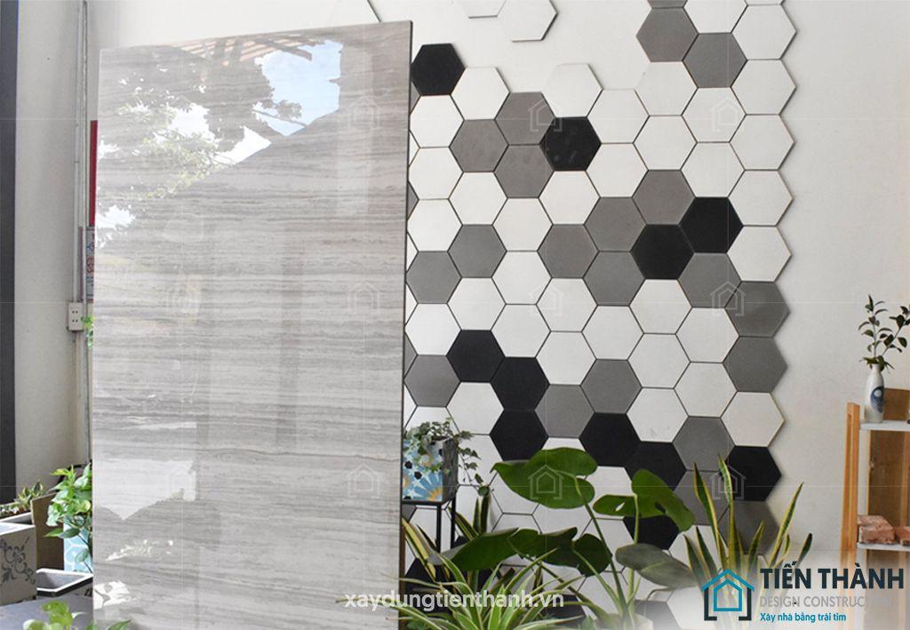 gach luc giac op tuong - Gạch lục giác ốp tường ứng dụng vào không gian trong ngôi nhà đẹp