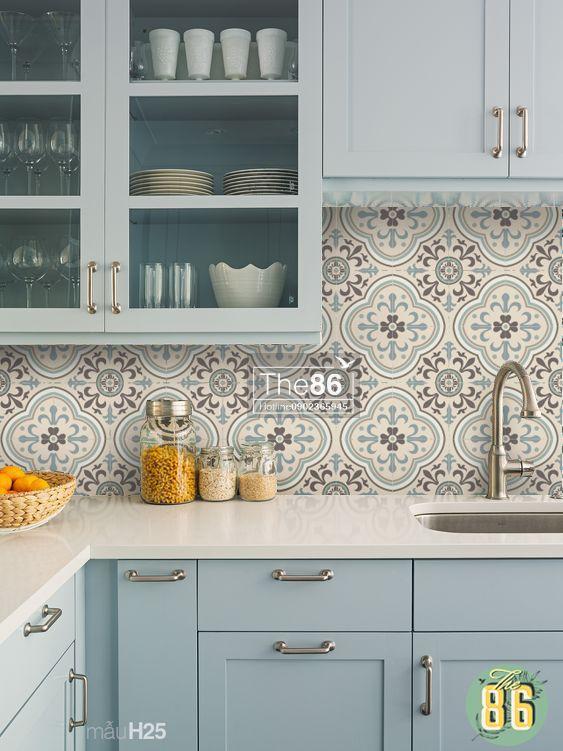 gach op bep dep tan co dien 13 - Các mẫu gạch ốp bếp đẹp cho tường BẾP với từng phong cách