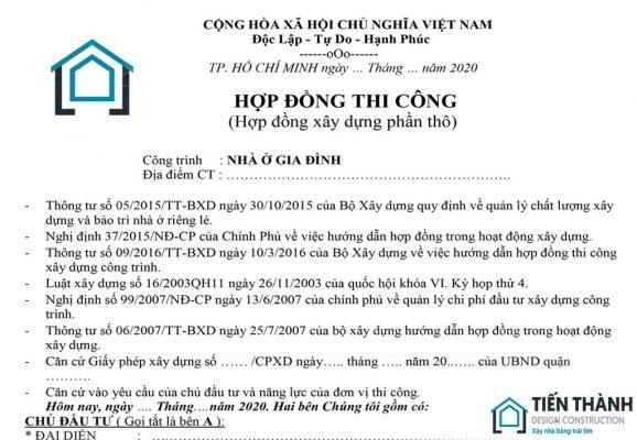 hop dong xay dung phan tho nha o 578x400 - Hợp đồng xây dựng phần thô nhân công hoàn thiện nhà ở 2020