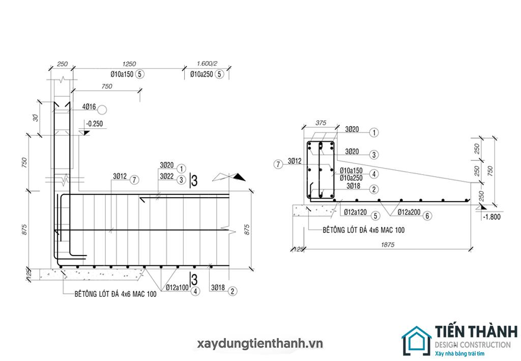 ket cau mong bang nha 3 tang 1 - Kết cấu móng băng nhà 3 tầng vững chắc khi sử dụng lâu dài