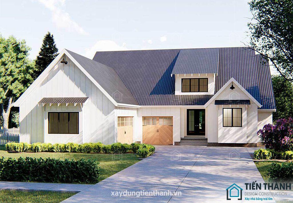 mau nha 3 gian o nong thon 1 - Mẫu nhà 3 gian ở nông thôn được xây dựng nhiều nhất năm 2020