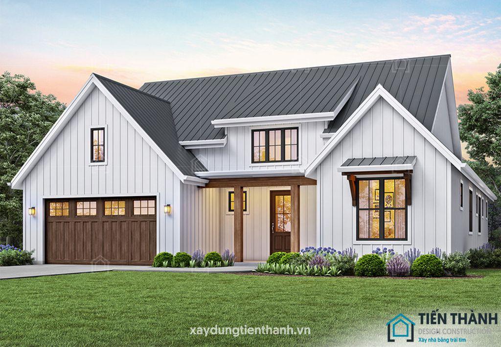 mau nha 3 gian o nong thon 2 - Mẫu nhà 3 gian ở nông thôn được xây dựng nhiều nhất năm 2020
