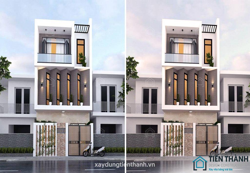 mau nha dep 3 tang 4x16m 1 - #25 Mẫu nhà đẹp 3 tầng năm 2020 thiết kế thi công tại TPHCM