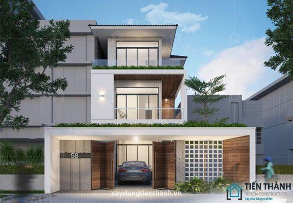 mau nha dep 3 tang 578x400 - #25 Mẫu nhà đẹp 3 tầng năm 2020 thiết kế thi công tại TPHCM