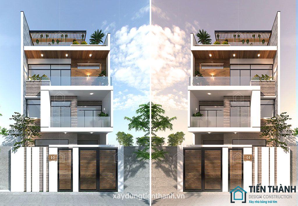 mau nha dep 3 tang hien dai 2 - #25 Mẫu nhà đẹp 3 tầng năm 2020 thiết kế thi công tại TPHCM