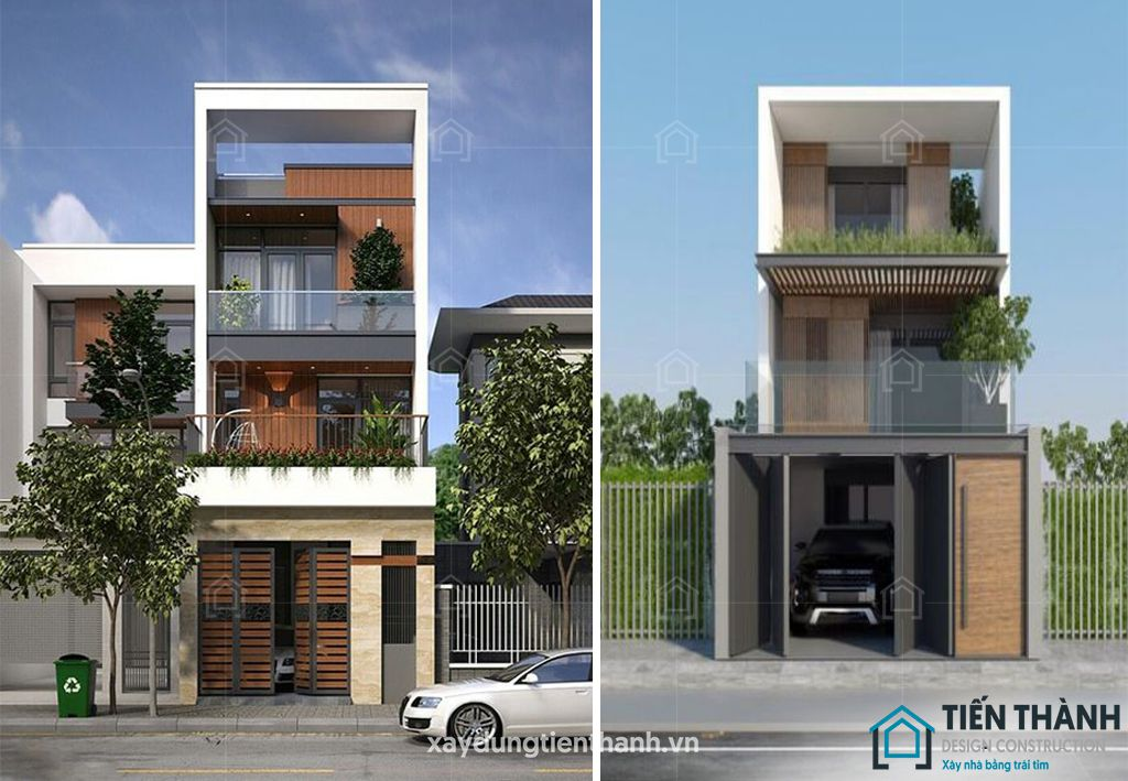 mau nha dep 3 tang hien dai 3 - #25 Mẫu nhà đẹp 3 tầng năm 2020 thiết kế thi công tại TPHCM