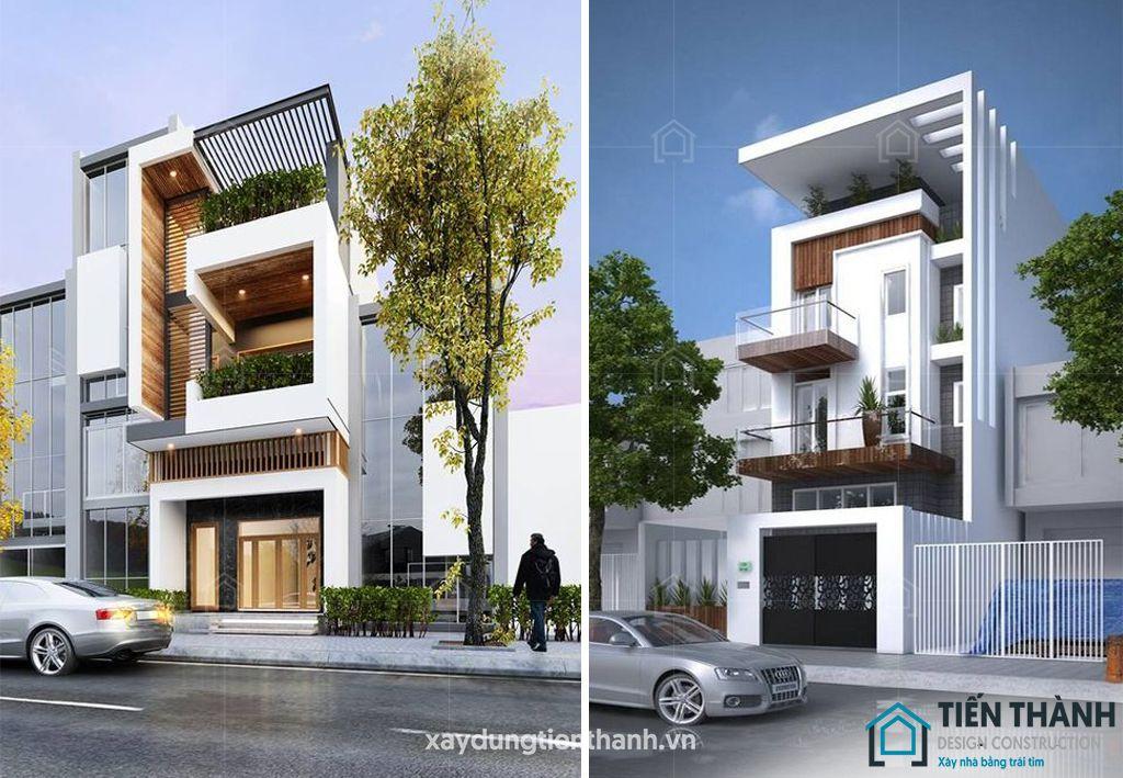 mau nha dep 3 tang hien dai 4 - #25 Mẫu nhà đẹp 3 tầng năm 2020 thiết kế thi công tại TPHCM