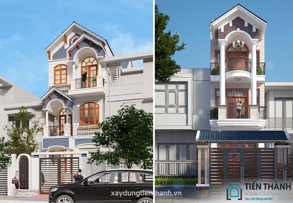 mau nha dep 3 tang mai thai 1 - #25 Mẫu nhà đẹp 3 tầng năm 2020 thiết kế thi công tại TPHCM