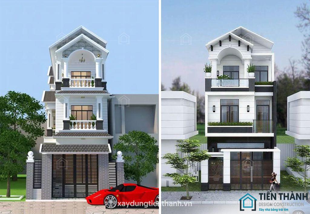 mau nha dep 3 tang mai thai 2 - #25 Mẫu nhà đẹp 3 tầng năm 2020 thiết kế thi công tại TPHCM