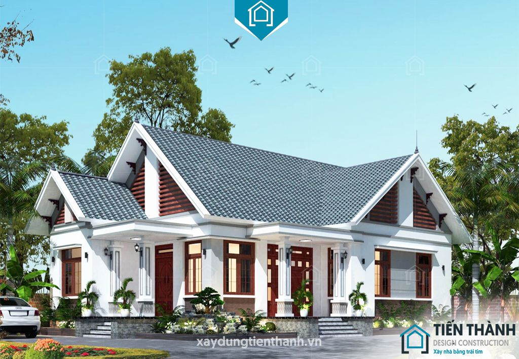 nha mai thai gac lung 2 - Nhà mái thái gác lửng-Lựa chọn thông minh cho gia đình Việt