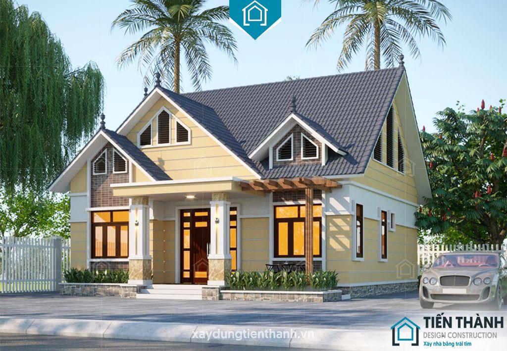 nha mai thai gac lung 5 - Nhà mái thái gác lửng-Lựa chọn thông minh cho gia đình Việt