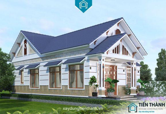 nha mai thai gac lung 578x400 - Nhà mái thái gác lửng-Lựa chọn thông minh cho gia đình Việt