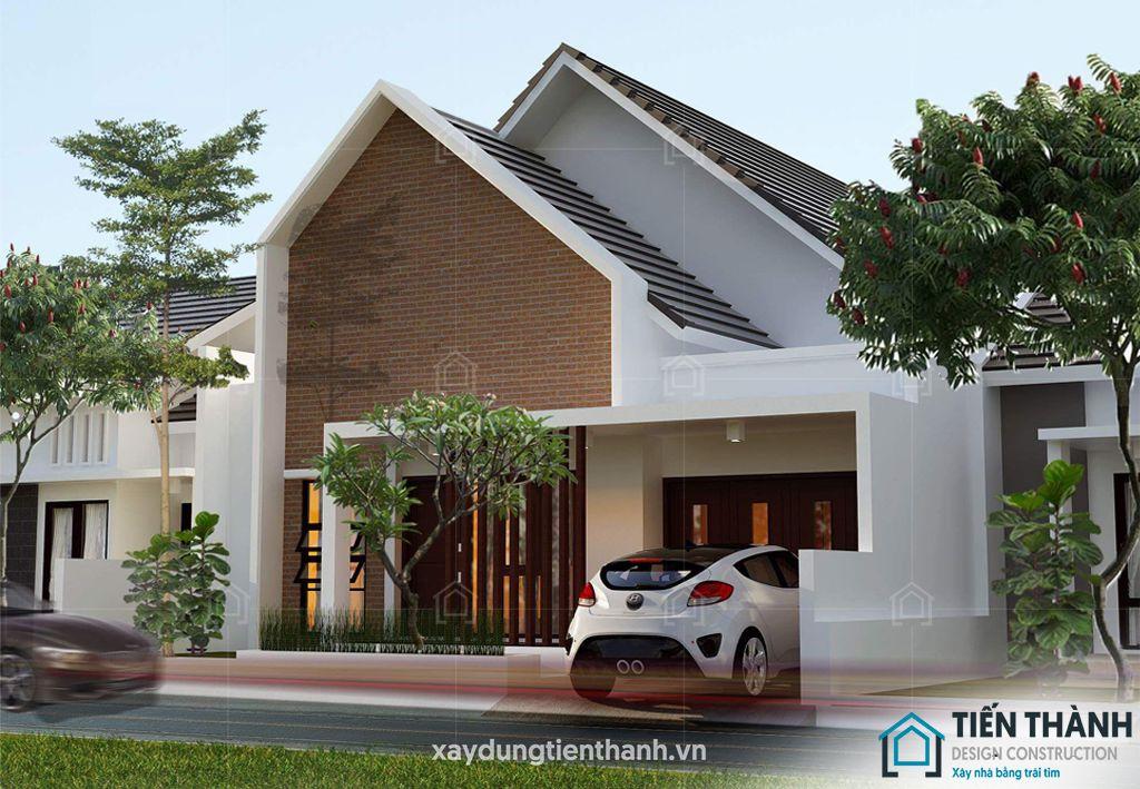 nhung ngoi nha cap 4 dep 4 - Những ngôi nhà cấp 4 đẹp nhất hiện đại ở Việt Nam năm 2020